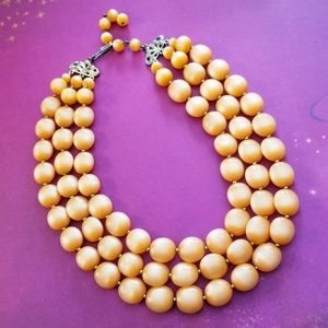 Vintage peach moonglow necklace